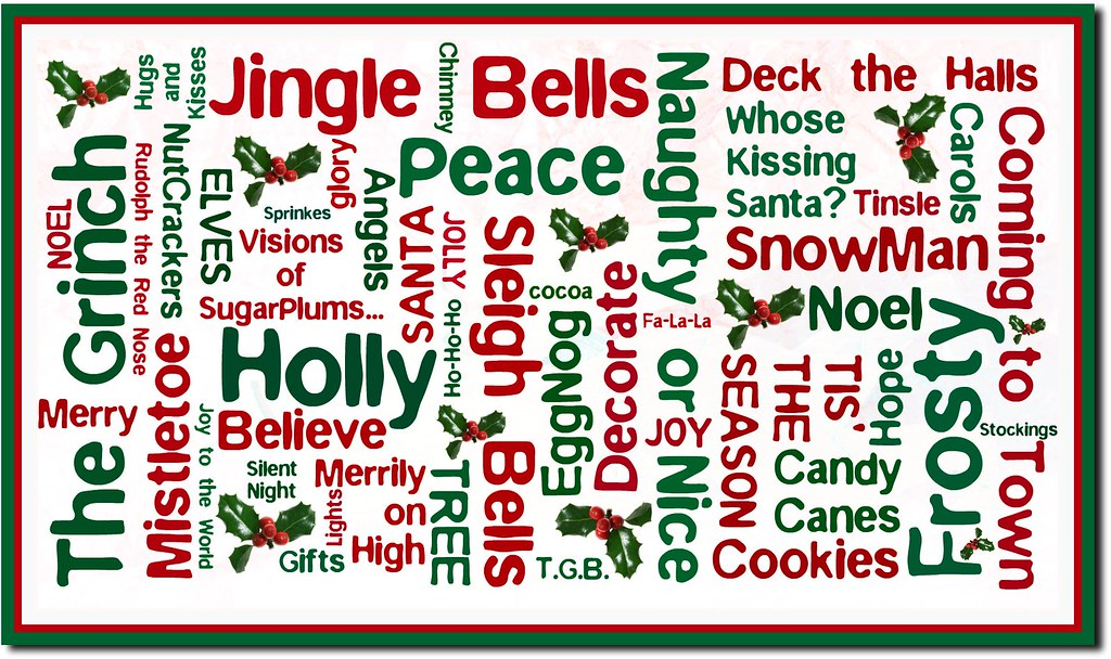 Christmas Words.Christmas Words Christmas Words How To Make On My Blog At
