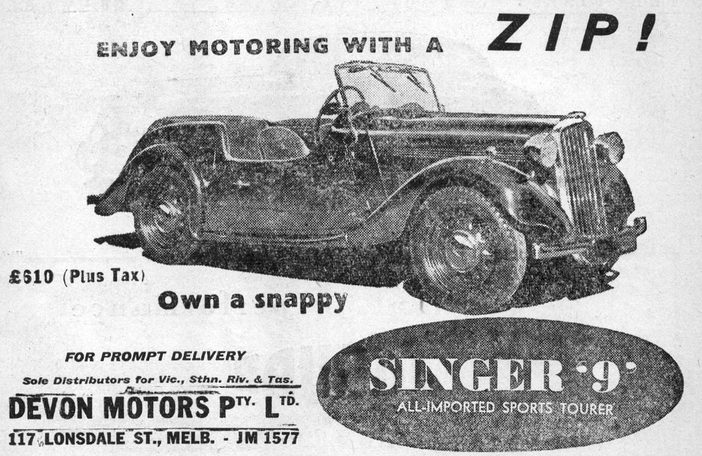 ... 1951 Singer 9 ad - Devon Motors | by sv1ambo