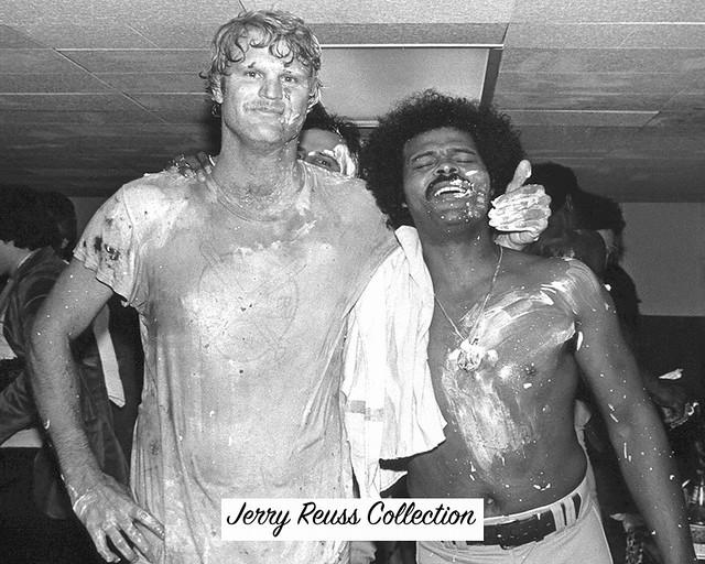 October 28, 1981 Locker room celebration