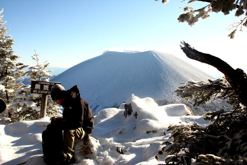 黒斑山から浅間山