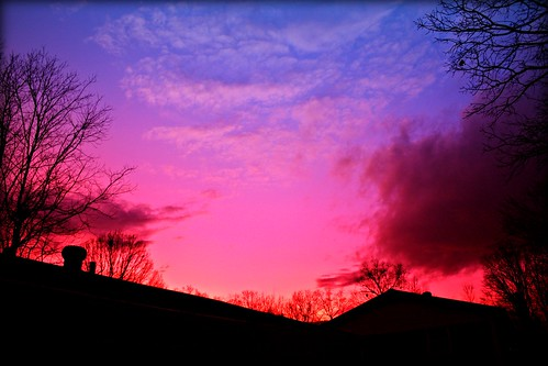 lighting blue trees winter light red sky mountains cold color nature beautiful clouds canon dark outdoors eos rebel dawn lights evening landscapes photo nc december dusk low north barns carolina scenes sheds xsi luminosity