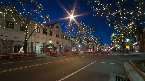 longexposure sunrise mainstreet connecticut ct christmaslights lighttrails bluehour ridgefield sigma1020mm fairfieldcounty christmaslightsonmainstreet