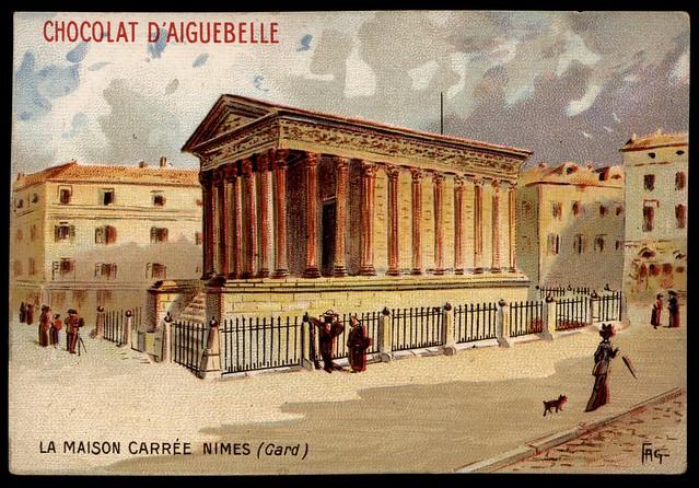 French Tradecard - La Maison Carree, Nimes