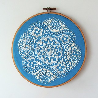 Embroidery hoop finishing | by Smallest Forest
