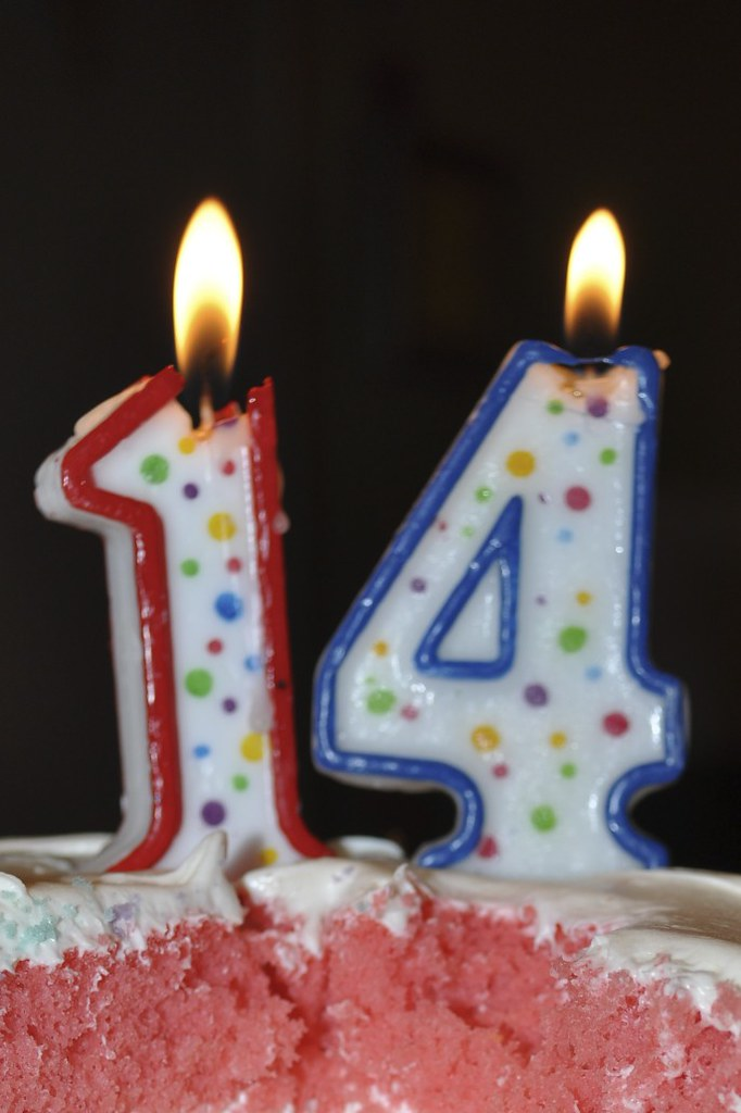 Stupendous 14 Candles On Birthday Cake Birthday Cake With 14 Candles Flickr Funny Birthday Cards Online Alyptdamsfinfo
