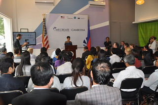 WECREATE Centers, designed to help women start businesses and build business capacity of women-led enterprises, launched on September 18, 2015. | by USEmbassyPhnomPenh