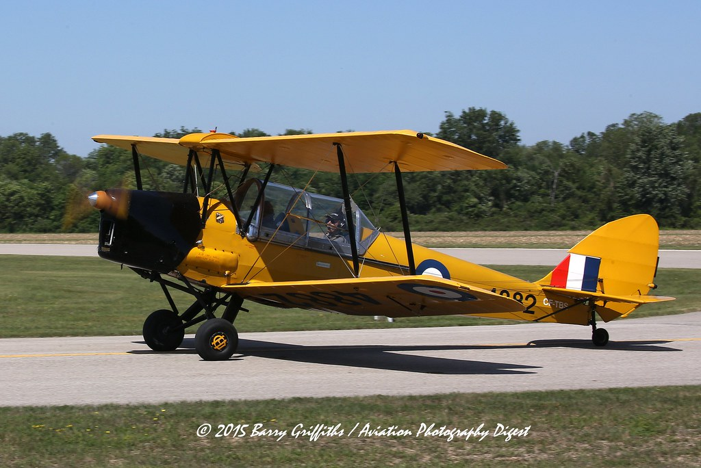 de Havilland DH-82C Tiger Moth, Single-engine Two-seat