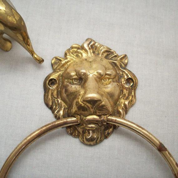 09d0f440dced9 Brass Lion Head Towel Ring | www.etsy.com/listing/87049111/b… | Flickr