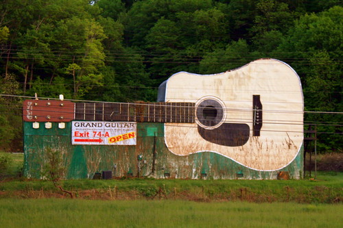 World's Largest Guitar - Interstate View