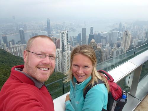 HongKong - skyline vanaf Sky Terrace 428 -1