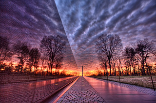 Vietnam Memorial Cloudy Sunrise | by A B Pan
