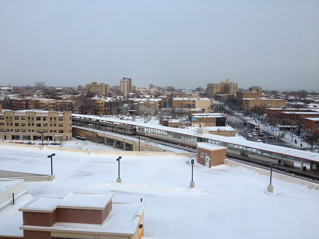 Snow in Rogers Park
