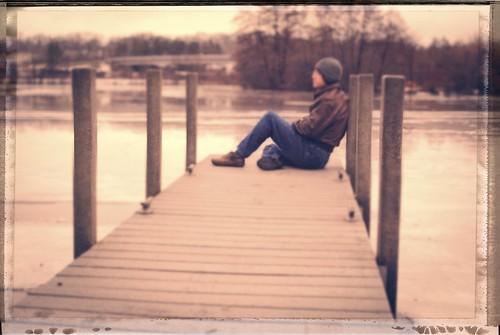 selfportrait cold ice me vintage frozen dock nikon waiting michigan annarbor huronriver onone greatesthits iphotooriginal 100photos galluppark mybestwork lookslikefilm d3000 nikonafs35mmf18g aperture3 perfectphotosuite