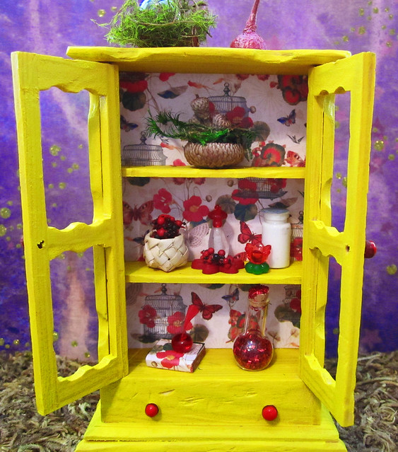Miniature Enchanted Fairy Nature Cabinet~1:12thScale