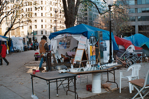 Occupy DC: Occupy camp in McPherson Square on December 4th, 2011