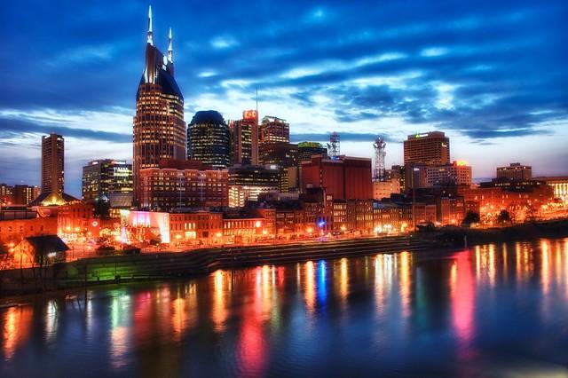Blue hour over Nashville