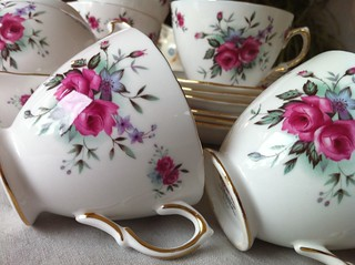 pink floral tea set | by Prudence Styles