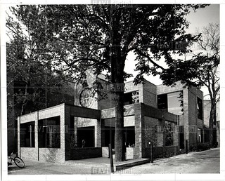 1979 newspaper photo of McDonald's on Maynard Street, Ann Arbor, winner of 1978 Michigan masonry award.
