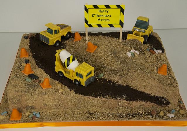 BC4047 - construction site birthday cake toronto
