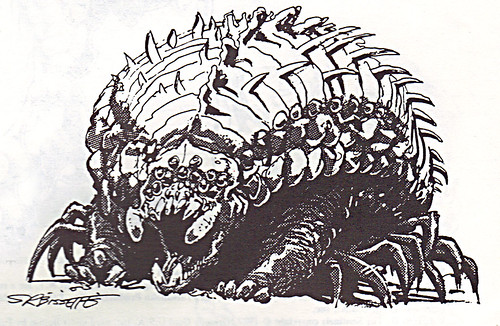 """'THE CATALOG OF PALLADIUM BOOKS 1988-89 Catalog' xiii / """"Bug"""" art by S.R. Bissette isolated (( 1988 )) by tOkKa"""