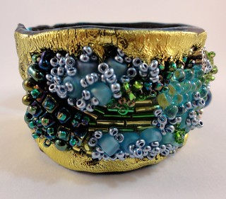 Friendly plastic and freestyle bead cuff
