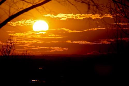sunset red sun love beauty large warmth corona orage