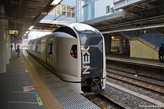 Narita Express en la estación de Shinagawa