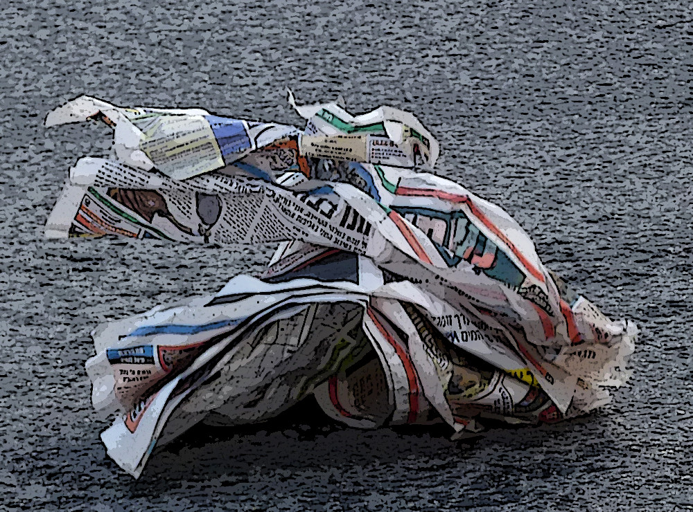 Newspaper in the Wind | Poster Edges Effect -Photoshop | Flickr