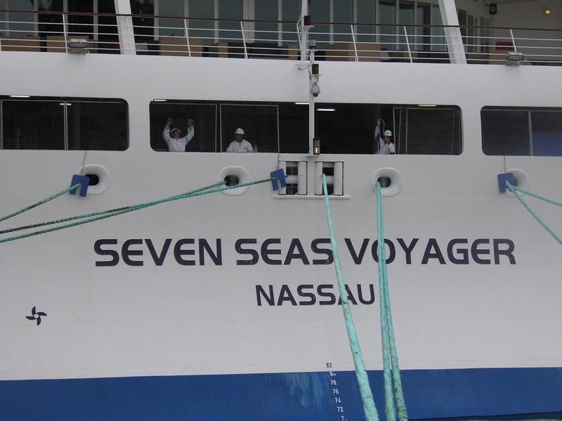 Ouvriers au travail - Seven Seas Voyager - Bordeaux - P8220113