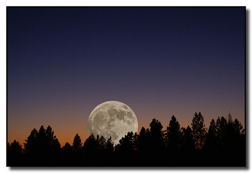 sunset washington spokane fullmoon
