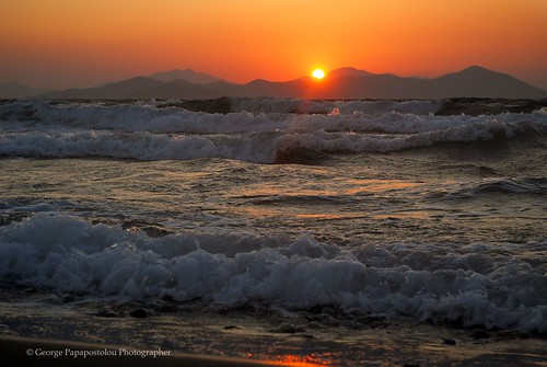 travel sunset sea mountains beach nature colors landscape island kos greece