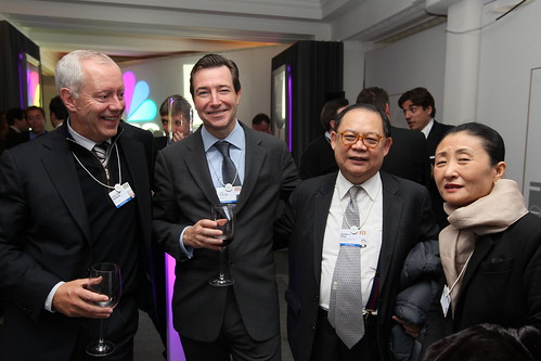 Huw Jenkins, BTG Pactual Europe with John Ridding, CEO, FT, Victor Chu, Chairman, First Eastern Group and Irene Chu   by Financial Times photos