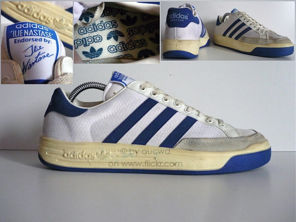 cheap for discount 397ae 4c272 ... 80`S   90`S VINTAGE ADIDAS ILIE NASTASE TENNIS SHOES   by aucwd