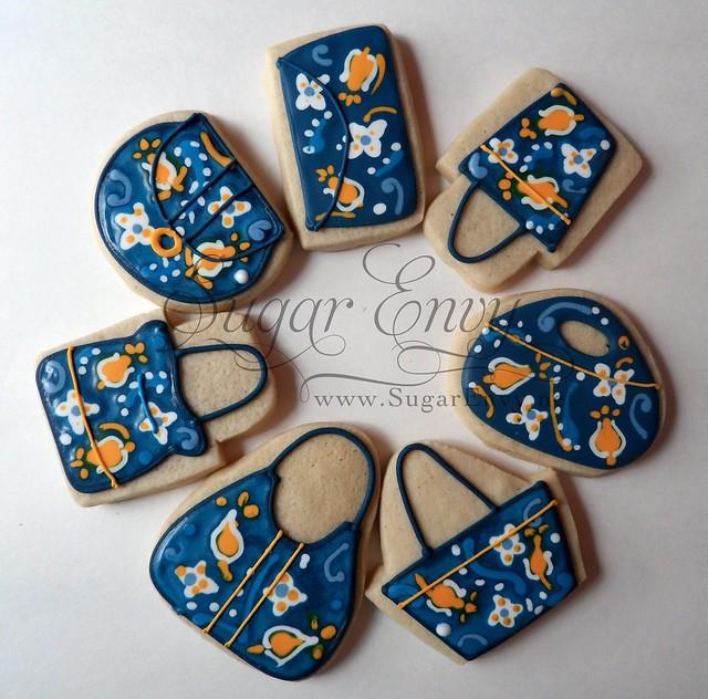 Vera Bradley Ellie Blue Custom Decorated Cookie Purses