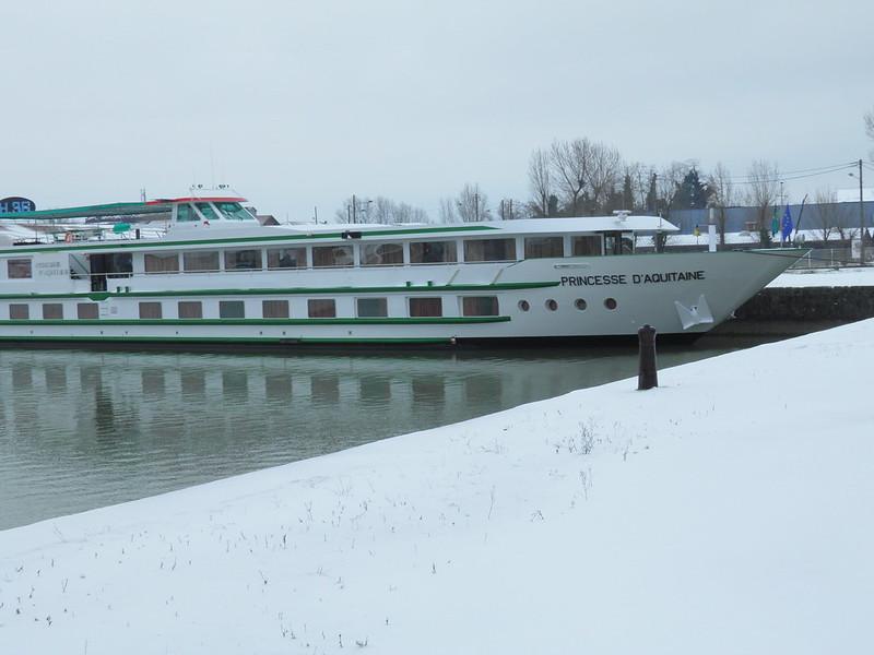 ms Princesse d'Aquitaine enneigée - Bordeaux sous la neige - 05 février 2012