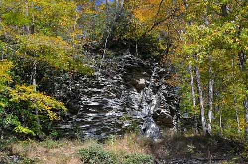 autumn orange cliff green fall colors up yellow rocks explore wv westvirginia explored coolsprings prestoncounty