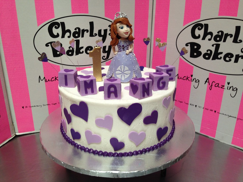 Stupendous Princess Sofia The 1St Themed 1St Birthday Cake With 3D Fi Flickr Birthday Cards Printable Opercafe Filternl