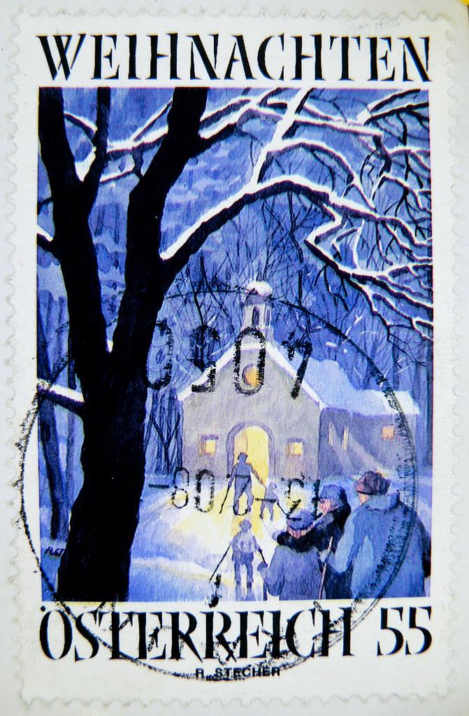 Top Ten Weihnachtsessen.Great Xmas Stamp Austria Christmas Postage 55 Briefmarke ö Flickr
