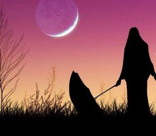 bulan sabit yang jatuh di pelataran