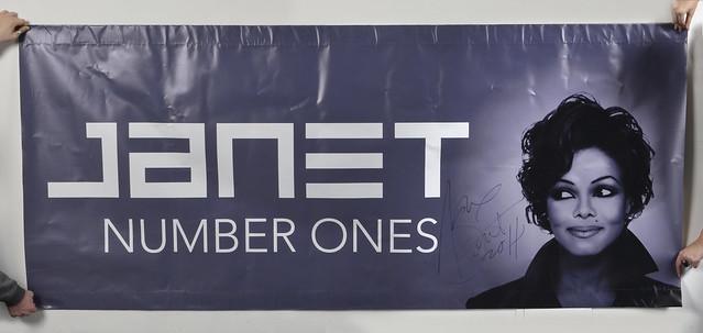 Janet Jackson Signed Banner