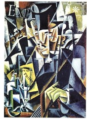 Liubov Popova: Portrait of a Philosopher (Cubist Construction, 1915)
