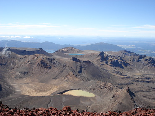 View from Mt Ngauruhoe - Tongariro Northern Circuit | by Department of Conservation