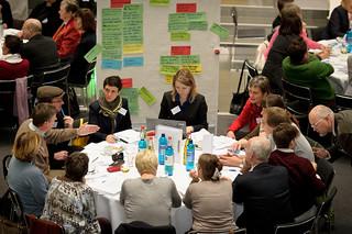 Die Diskussionsergebnisse werden mitgeschrieben | by Bürgerdialog Zukunftsthemen