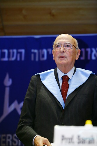 President Giorgio Napolitano of Italy receiving honorary doctorate, 27.11.08