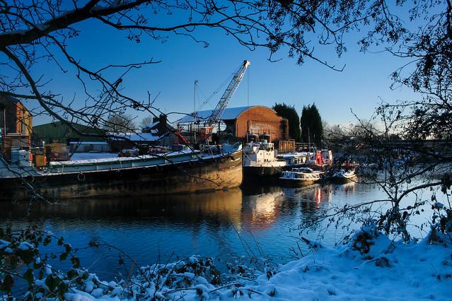 Winter quayside