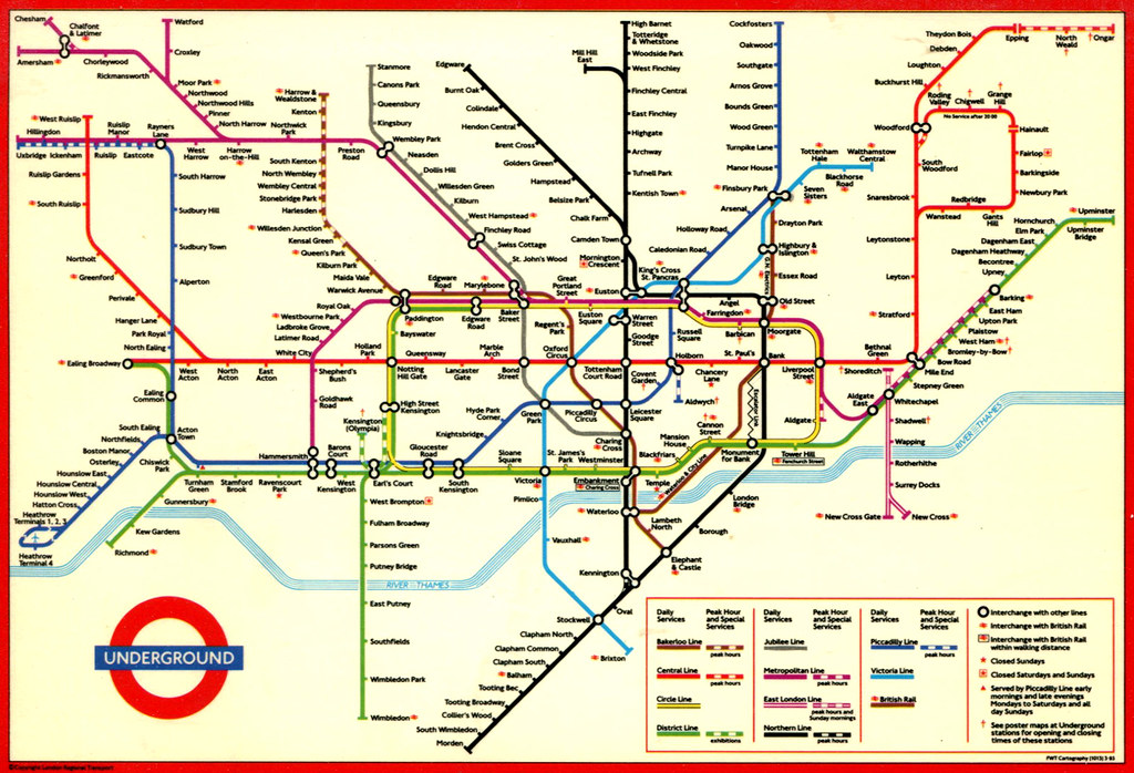Subway Map Of Park Slope.London Underground Map 1994 Map Of The London Undergroun Flickr