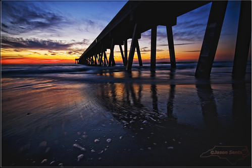 winter beach sunrise northcarolina raleigh wilmington wrightsvillebeach 2012 johnniemercerfishingpier jasonsents