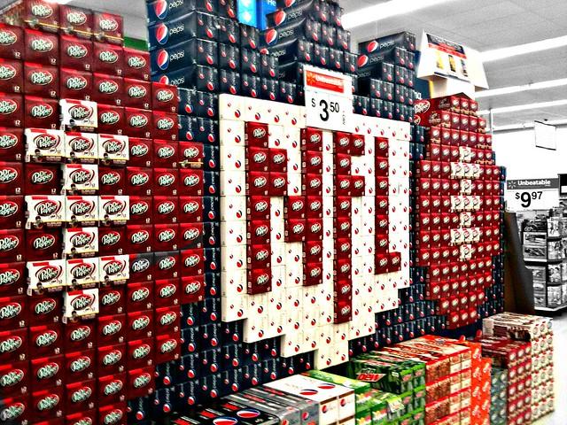 NFL Soft Drink Display