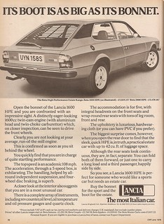 Lancia HPE Advert 1978 | by Trigger's Retro Road Tests!