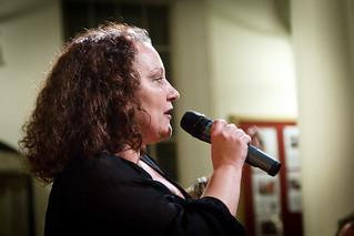 Toni Davey of Save KEMP speaking at Thames Water public meeting - 12 January 2012